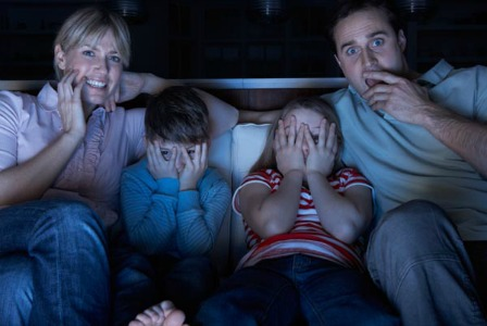 family-watching-scary-movie